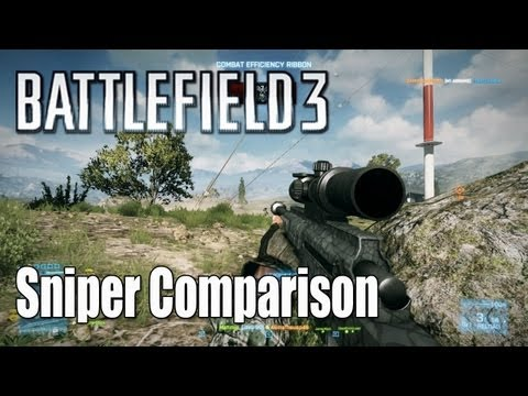 Battlefield 3: Sniper Rifle Comparison - Recon Guide