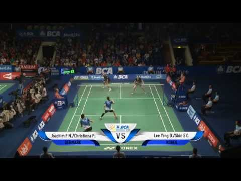 Lee Yong Dae/Shin Seung Chan (KOR) VS Joachim Fischer/C. Pedersen (DEN) - BCA Indonesia Open 2014