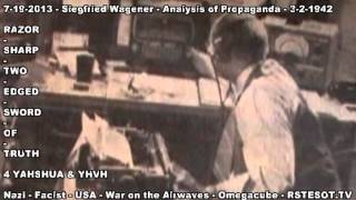 Analysis of Propaganda   3 2 1942   Siegfried Wagener