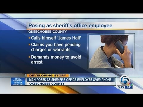 Man poses as Sheriff's Office employee over phone