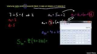 Končna aritmetična vrsta – naloga 4