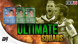 ULTIMATE SQUADS! GERMANY WORLD CUP FINAL TEAM! | FIFA 14 Ultimate Team
