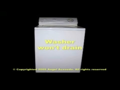 Maytag top load washer not draining