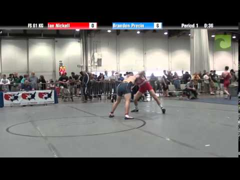 Mens FS FS 61 KG - Ian Nickell vs. Brandon Precin