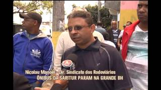 Motoristas da empresa Saritur paralisam trabalhos na Grande BH