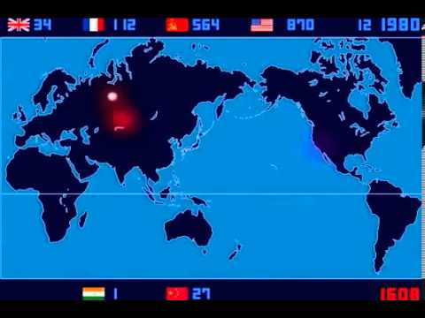 Tổng hợp các vụ thử và nổ hạt nhân từ năm 1945-2013