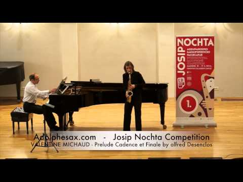 JOSIP NOCHTA COMPETITION VALENTINE MICHAUD Prelude Cadence et Finale by alfred Desenclos