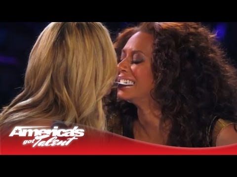 Collins Key - Young Magician Gets Heidi and MelB to Almost Kiss - America's Got Talent 2013 Finals