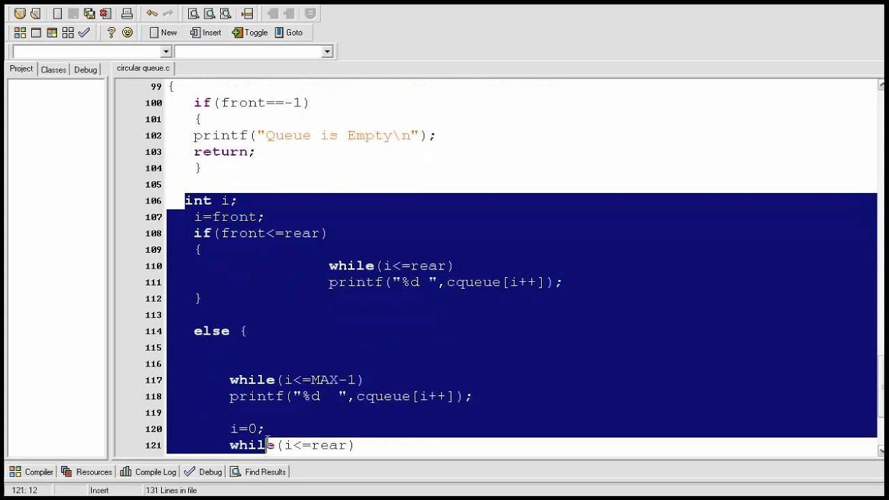 Data structure tutorial 4: Circular Queue explained and c program ...