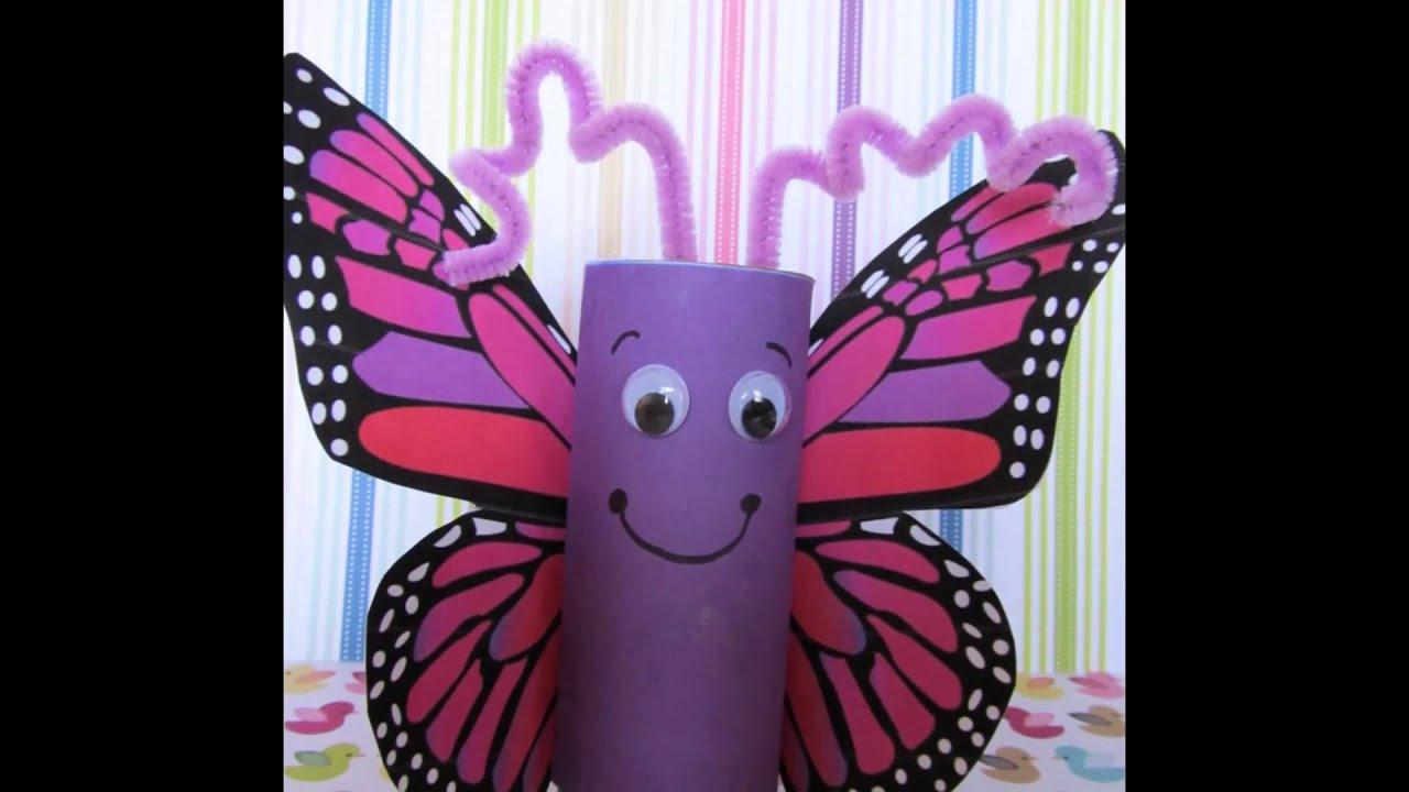 50 ideas para reciclar tubos de papel higi nico youtube - Youtube manualidades de papel ...