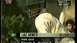 Shahid Afridi And Ijaz Ahmed 100 In 10 Overs 1997 (Vs) India