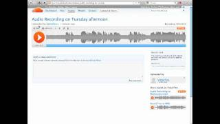 How To Upload Your Audio To Soundcloud And Link To It From