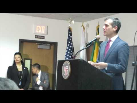 L.A. Mayor Eric Garcetti: Making Good on a Promise to South L.A.