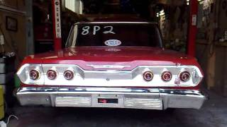 "1963 Chevrolet Biscayne 409 ""Jungle Fever"" Idling"