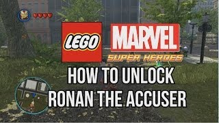How To Unlock Ronan The Accuser LEGO Marvel Super Heroes