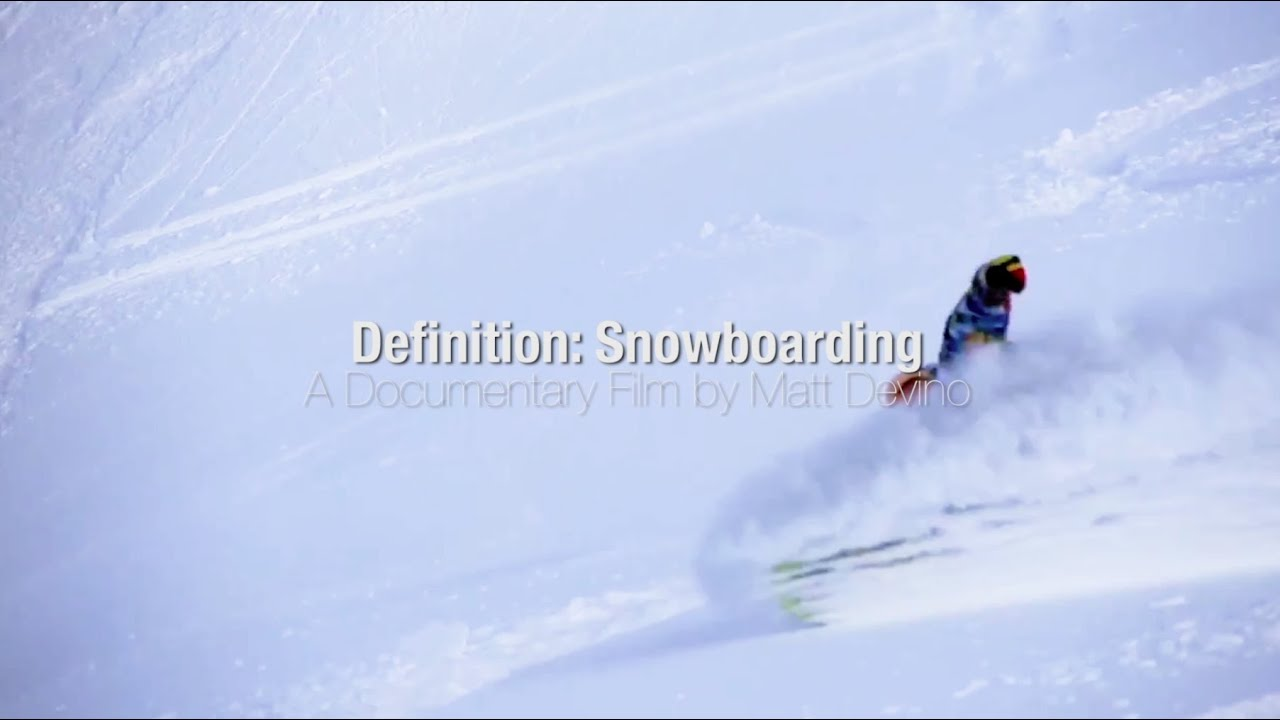 Video: Definition: Snowboarding by Matthew Devino (teaser 2)