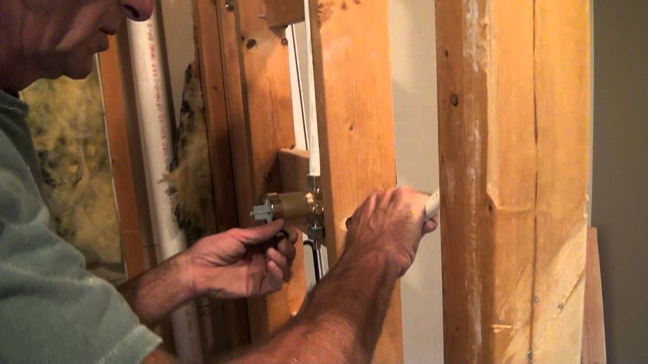 Tile Shower Plumbing Tricks Of The Trade Youtube