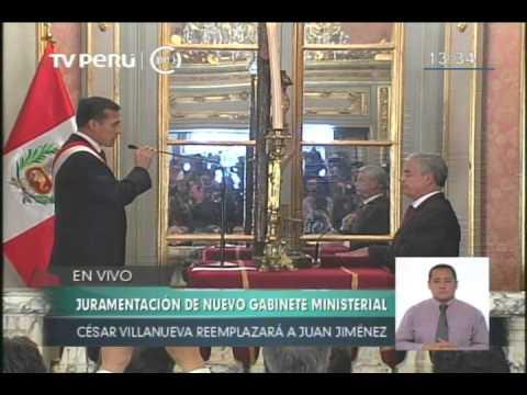 César Villanueva juramentó como nuevo jefe del Gabinete