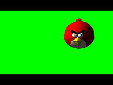 Angry Birds 3D animation - differnet views - green screen effects