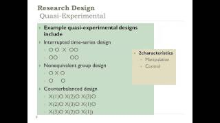 Developing a Quantitative Research Plan: Choosing a Research Design