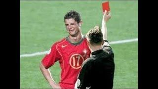 9 Tarjetas Rojas en la carrera de Cristiano Ronaldo