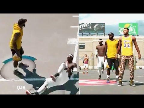 NBA 2k15 MyPARK 3vs3 Gameplay - FACECAM Teammate Broke His Leg Getting Posterized w/NykeFaller