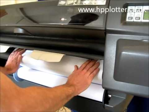 Designjet 1050c/1055cm Series - Load paper/media roll on your printer