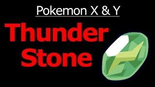 Pokemon X And Y Thunder Stone Location