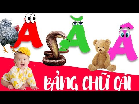 Bảng chữ cái tiếng việt cho bé | dạy bé học đọc chữ cái abc | dạy trẻ thông minh sớm 3