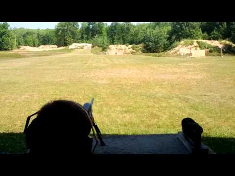 Aaron shooting Tannerite at Indian River Gun Club