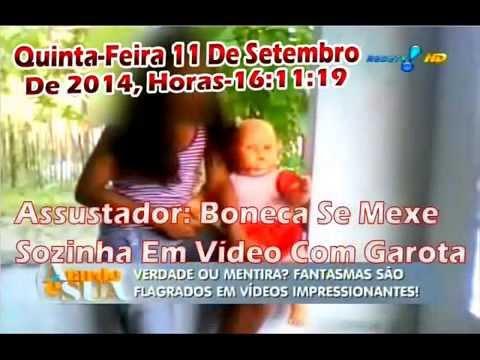 Canal Rede Tv . Com A Sonia Abrão - Assustador: Boneca Se Mexe Sozinha Em Vídeo Com Garota