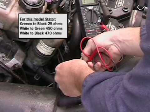 Testing a stator in a snowmobile Arctic cat YouTube
