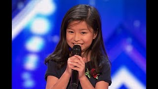 """9-Year-Old Celine Tam Stuns Crowd with """"My Heart Will Go On"""" on America's Got Talent 2017"""