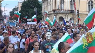 [Protest in Sofia 10.07.2013 in front of Parliament in Full 3D HD]