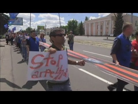 Peace Rally held in eastern Ukraine