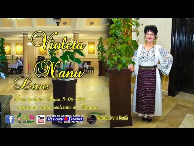 Violeta Nanu - Stai cu mine omule sa-ti cant LIVE- Imprimare Audio-Claudiu Record Studio