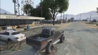 GTA 5 MONSTER TRUCK STUNT CRASH ACCIDENT POLICE CHASE