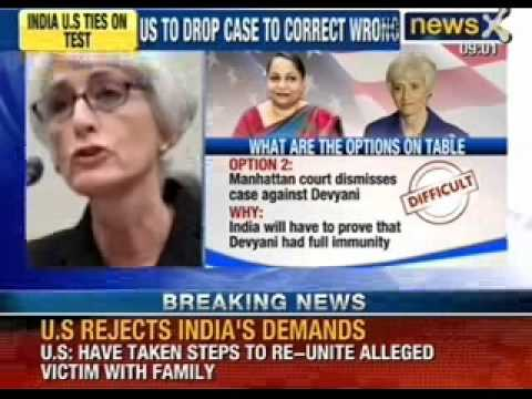 NewsX: US Rejects to drop charges against Devyani