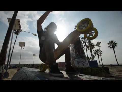 Longboarding lowrider in venice