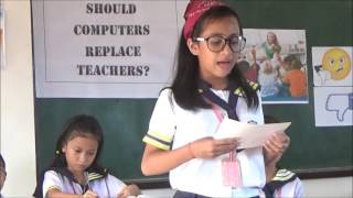 debate on should computers replace teachers Gr v class 2016-2017 - elcita l lospe guro 21 batch 6 class 5 (cagdianao central elementary school , cagdianao dinagat islands.