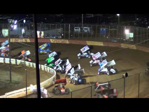 Lincoln Speedway 410 and 358 Sprint Car Highlights 10-20-13