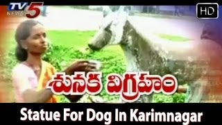 Statue For Dog In Karimnagar