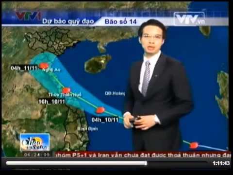 Bão số 14: bản tin dự báo 6h30 ngày 9/11/2013 - Bão số 14 hướng về đảo Song Tử Tây