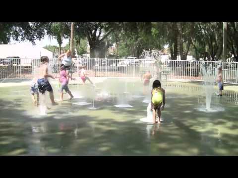 Splashing in Winter Springs, Florida