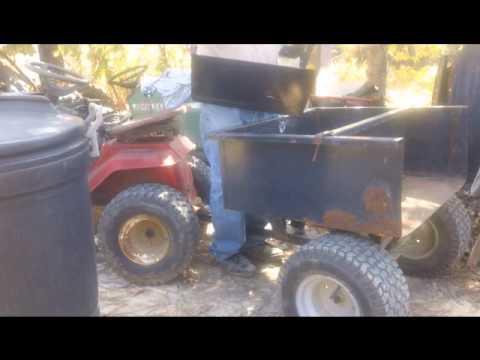 Custom lawn tractor trailer