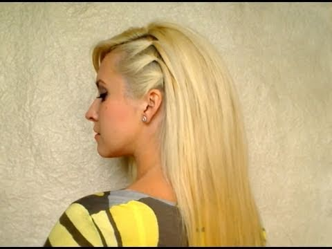 Anti Valentines day hair tutorial Cute party hairstyles for long hair down Teased voluminous medium