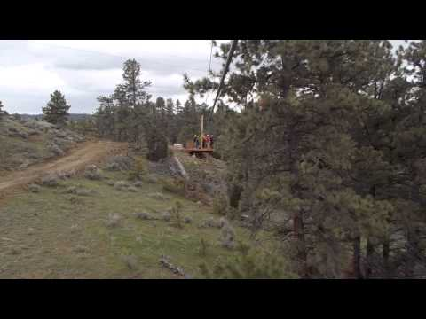 Outlaw Canyon Zip Lines - Billings Montana - Riding Zip 1