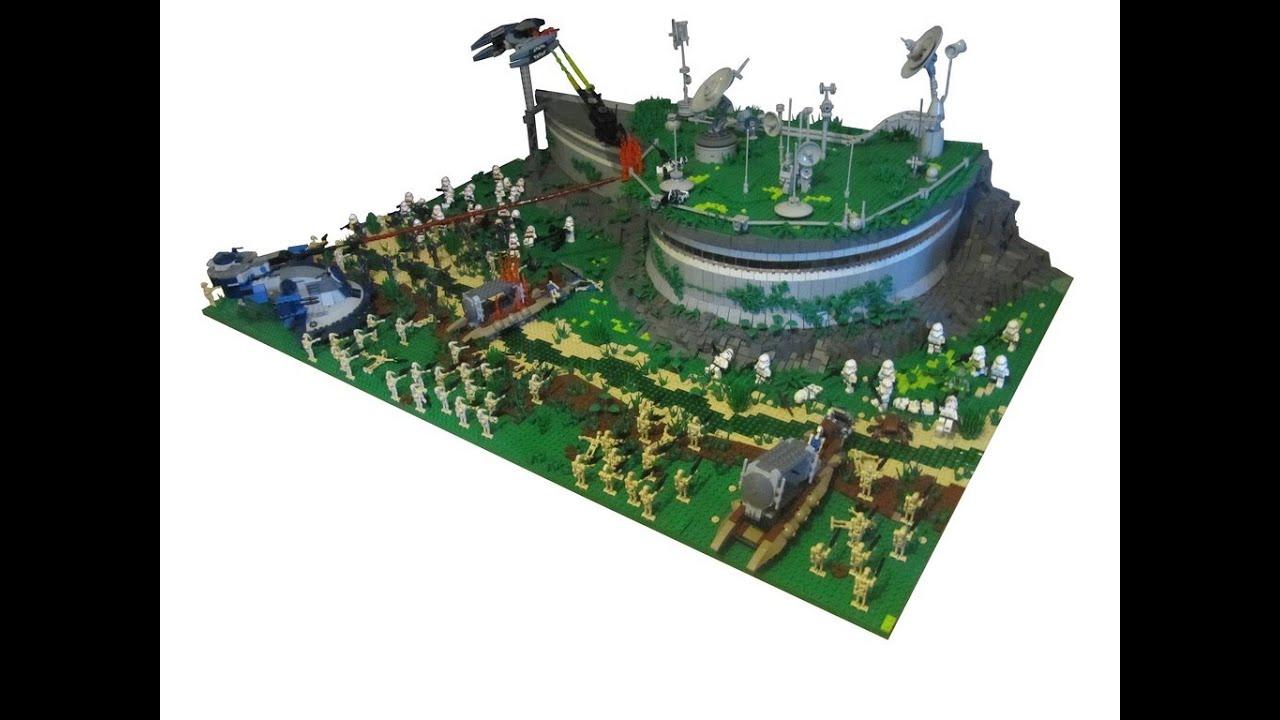Lego star wars the clone wars clone base on yavin moc youtube - Lego star wars base droide ...