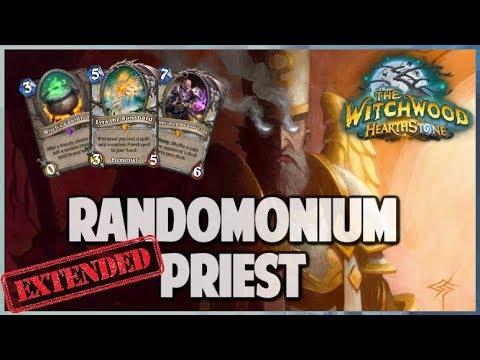 Randomonium Priest | Extended Gameplay | Hearthstone | The Witchwood