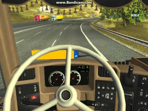 Driving with my old scania vabis steering wheel(HD)